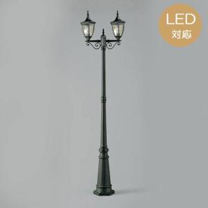 ガーデンライト LED 庭園灯 屋外 照明 スタンドライト OG092842LD レトロ アンティーク風 門柱灯 門灯 外灯 照明器具 おしゃれ E26 クリア一般形 6W|e-housemania