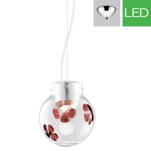 ペンダントライト LED op252217P1 ガラス(透明・花模様入り) 室内照明 天井照明 リビング 照明 間接照明 室内ライト 吊り下げライト モダン LED電球色|e-housemania