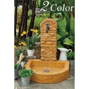 立水栓 水栓柱 ガーデニング ガーデンパンアクア立水栓 ナチュラルタイプ 水回り ガーデン水栓柱 DIY|e-housemania