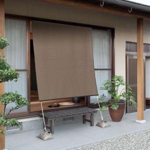 日よけ シェード オーニング スクリーン すだれシェード 京すだれ 焼き竹色 180×180cm|e-housemania