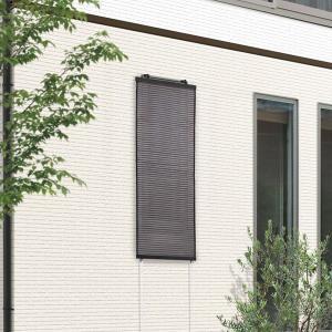 日よけ シェード オーニング スクリーン 日除けスクリーン ブラウン 45×120cm|e-housemania