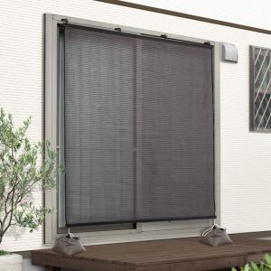 日よけ シェード オーニング スクリーン 日除けスクリーン ブラウン 180×180cm|e-housemania