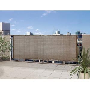 日よけ シェード オーニング スクリーン バルコニーシェード モカ 270×100cm|e-housemania