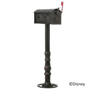 ポスト 郵便受け スタンドタイプ 郵便ポスト デザインポスト ディズニー メイルボックス  ミッキー木陰でひと休み|e-housemania