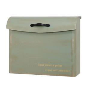 ポスト 郵便受け 壁掛け郵便ポスト 大型配達物対応クレール 鍵有り ブラッシュグリーン|e-housemania