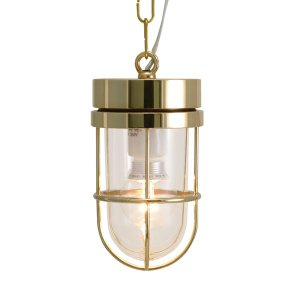 屋外照明 玄関 照明 軒下 外灯 屋外対応 LED マリンランプ ペンダントライトP6000 CL LE 真鍮磨き ガーデンライト真鍮製 照明器具|e-housemania