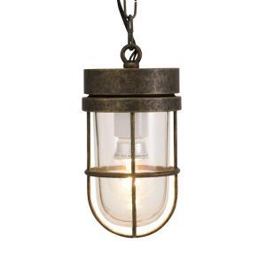 屋外照明 玄関 照明 軒下 外灯 屋外対応 LED マリンランプ ペンダントライトP6000 AN CL LE 古色 ガーデンライト真鍮製 照明器具|e-housemania
