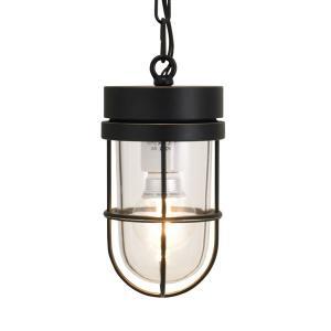 屋外照明 玄関 照明 軒下 外灯 屋外対応 LED マリンランプ ペンダントライトP6000 BK CL LE ブラック ガーデンライト真鍮製 照明器具|e-housemania