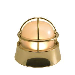 屋外照明 玄関照明 玄関 照明 門柱灯 門灯 外灯 屋外 LED マリンランプ BH1000LOW FR LE 真鍮磨き 壁面 天井 床面 真鍮製 照明器具|e-housemania