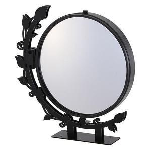 駐車場 車庫 カーブミラー 鏡 道路反射鏡 おしゃれなガレージミラー リーフ|e-housemania