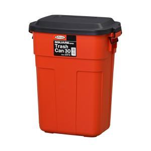ゴミ箱 ごみ箱 ふた付き おしゃれ ダストボックス トラッシュカン 30リットル 30L レッド 赤 屋内 室内 キッチン アメリカン かわいい|e-housemania