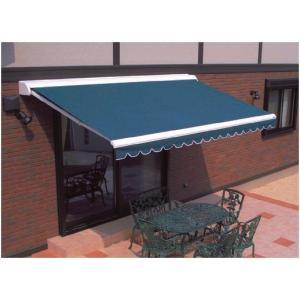 日よけ オーニング 壁付け 手動式  本体+標準キャンパスセット  間口1940mm(1.0間)×出幅1.0m 角度調節可能