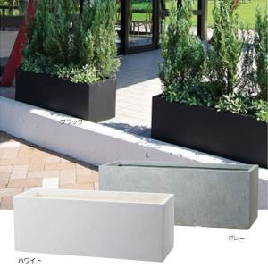 プランター 植木鉢 大型 長方形植木鉢 ファイバープランター ラムダ スリム 100×37×37cm...