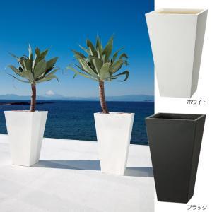 プランター 植木鉢 大型 ファイバープランター ゼータ 40×40×65cm  ガーデニング 園芸用品|e-housemania