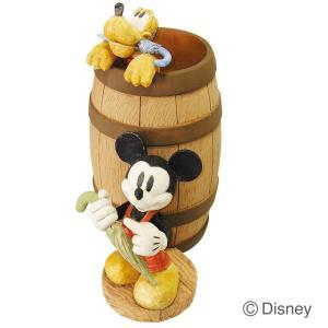 傘立て かさ立て ディズニー ミッキーマウスとプルート 受け皿付き  ガーデンニング雑貨|e-housemania