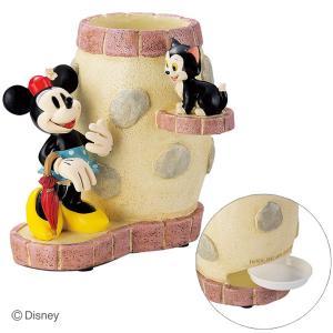 傘立て かさ立て ディズニー ミニーとフィガロ  受け皿付き  ガーデンニング雑貨|e-housemania