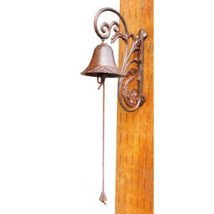 ドアベル ドアチャイム ガーデンベル 植物 85295 鉄鋳物 装飾雑貨|e-housemania