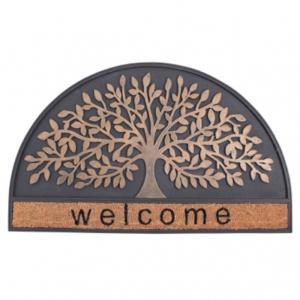 玄関マット 屋外用 ラバーコイヤーマット FBGY4020 ラウンドウエルカムツリー 樹木 エントランスを素敵に演出|e-housemania