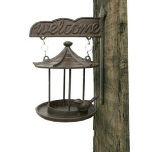 野鳥の餌台 鳥小屋で鳥のさえずりで賑やかお庭演出!バードフィーダーは鳥を対象に設置される給餌器具。か...