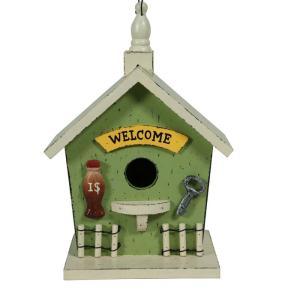 ガーデン用のバードハウスです。 小鳥が集まる憩いの場をお庭に作ってみてはいかがでしょうか。レトロなも...