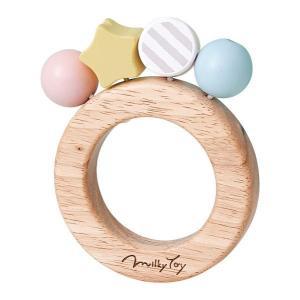出産祝いにぴったり。 ベビーカラーがかわいい木製玩具シリーズ。  キャンディのようなビーズがかわいい...