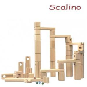 スカリーノ 基本セット 【おまけのビー玉5個付き】 scalino 木のおもちゃ 積木 積み木 つみき 知育 玩具 出産祝 誕生日 クリスマス プレゼント|e-interia