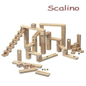 スカリーノ 3 【おまけのビー玉5個付き】 scalino 木のおもちゃ 積木 積み木 つみき 知育 玩具 出産祝 誕生日 クリスマス プレゼント|e-interia