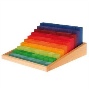 グリムス にじのカウンティングブロック GM42100 レインボー 知育玩具 木のおもちゃ 積木 積み木 つみき 知育 玩具 出産 御祝 誕生日 クリスマス プレゼント|e-interia