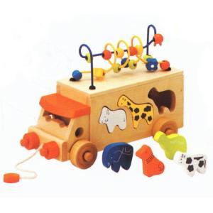 アニマルビーズバス  木のおもちゃ あそび パズル 知育 玩具 出産 御祝 誕生日 プレゼント