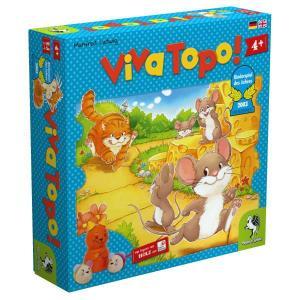 ●厚紙製ゲーム盤:44×44cm  ●ネコ1個、ねずみ(赤・青)各5個、ねずみ(黄・緑)各4個、チー...