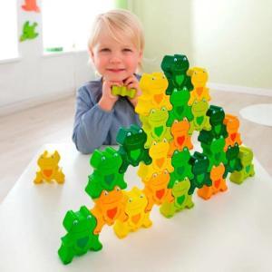 かえるつむつむ・25 ハバ HABA ハバエデュケーション 木のおもちゃ 積木 積み木 つみき 知育 玩具 出産御祝 誕生日 クリスマス プレゼント|e-interia