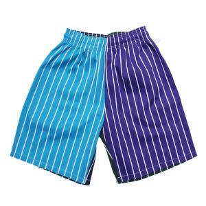 COOKMAN   ショーツ   Chef Short Pants CRAZY STRIPES COOL (ブルー系)(ストライプ)(クックマン)  (ハーフパンツ)(ショートパンツ)|e-issue