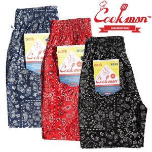 COOKMAN Chef Short Pants Paisley ショーツ クックマン ハーフパンツ ショートパンツ|e-issue