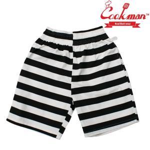 COOKMAN Chef Short Pants Border ショーツ クックマン ハーフパンツ ショートパンツ|e-issue