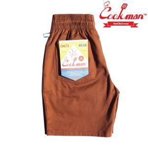 COOKMAN Chef Short Pants Chocolate BROWN ショーツ クックマン ハーフパンツ ショートパンツ|e-issue
