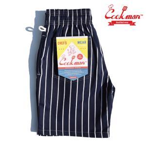 COOKMAN Chef Short Pants Stripe Navy ショーツ クックマン ハーフパンツ ショートパンツ|e-issue