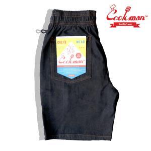 Chef Short Pants DENIM  Black ショーツ クックマン ハーフパンツ ショートパンツ|e-issue