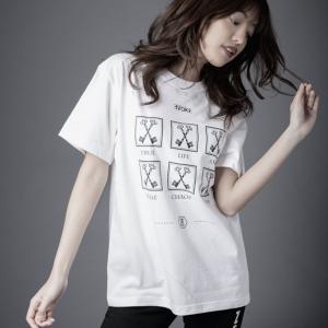 ZERO EVOKE Tシャツ 白  Six life White   (ゼロイヴォーク)|e-issue