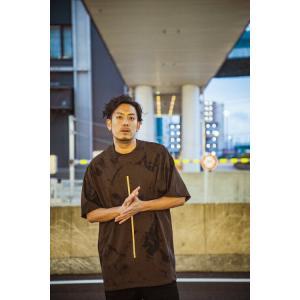 GoneR Tシャツ Tie-dye Line Dark Chocolate ゴナー 半袖|e-issue