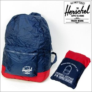 HERSCHEL バックパック 21L PACKABLE DAYPACK NAVY/RED (ハーシェル)(リュック)(バッグ)(ADULT)|e-issue