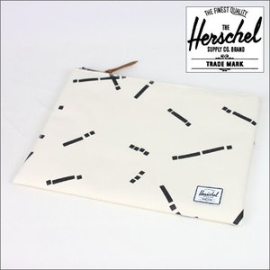 HERSCHEL  クラッチバッグ    NETWORK POUCH XL    Natural Code(白)    (ハーシェル)(ポーチ)|e-issue