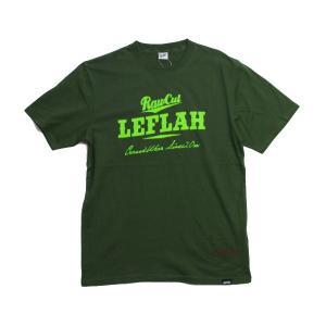 Leflah  Tシャツ  Score logo D-グリーン   (レフラー)|e-issue