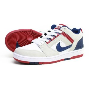 NIKE SB スニーカー   AIR FORCE 2 LOW  WHITE/BLUE VOID-RED CRUSH-WHITE(白)|e-issue