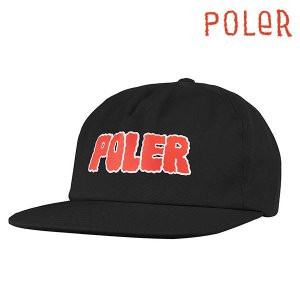 POLeR CAP WIGGLE FONT HAT Black ポーラー キャップ 黒 帽子|e-issue