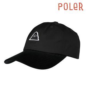 POLeR CAP CYCLOPS PATCH HAT Black ポーラー キャップ 黒 帽子|e-issue