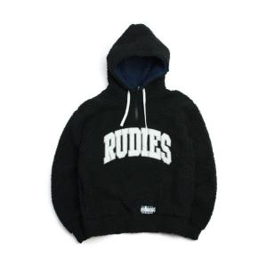 RUDIE'S フリース  COLLEGE BOA HALFZIP 黒   (ルーディーズ)