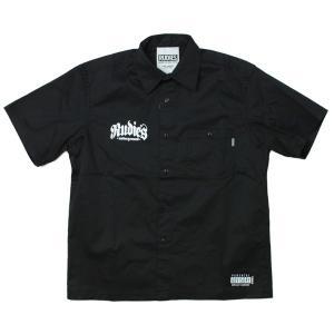 RUDIE'S  半そでワークシャツ 黒  STAB WORK SHIRTS BLACK   (ルー...