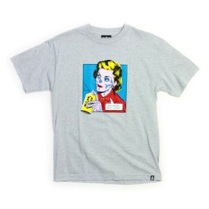REBEL8 Tシャツ  Ben-Day   グレー  (REBEL EIGHT)(マイクジャイアント)|e-issue