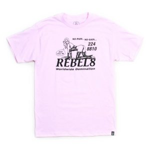 REBEL8 Tシャツ  PLEASURE  ピンク  (REBEL EIGHT)(マイクジャイアント)|e-issue