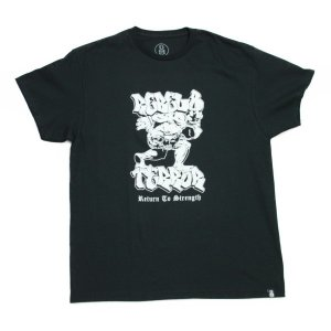 REBEL8 x TERROR Tシャツ  RETURN TO STRENGTH TEE   黒  (REBEL EIGHT)(マイクジャイアント)|e-issue